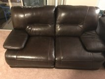 Leather Couch and Loveseat Set in Norfolk, Virginia