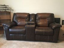 Double Leather Recliner in Dover AFB, Delaware