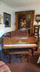 VERY RARE ANTIQUE FINE 1880's Pristine Venables & Co. London Baby Grand Piano All Original in Beaufort, South Carolina