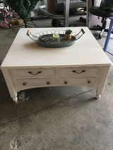 Antiqued white coffee table in Travis AFB, California