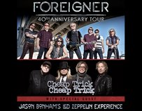 2 Tickets Foreigner, Cheap Trick, Jason Bonham's LZ   Sec. 101 - Row 11  Sept. 1st  Wheatland in Fairfield, California