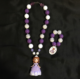 Sofia The First Chunky Necklace & Bracelet in Fort Irwin, California