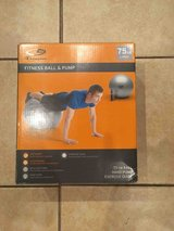 Exercise Ball and Pump - new, still in plastic in Wheaton, Illinois