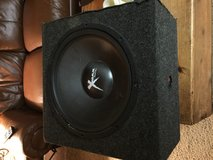 15inch X Max woofer and box in Travis AFB, California