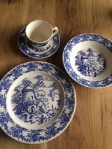 Blue Windmill dishes by Royal China in Bartlett, Illinois