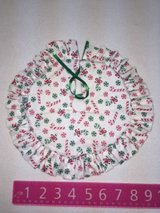 Candy cane tree skirt in Batavia, Illinois