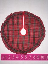 Red Plaid Tree skirt in Batavia, Illinois