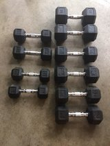 Dumbbell weights (Five Sets) in Camp Lejeune, North Carolina