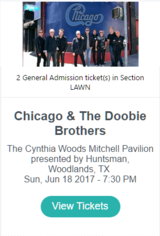 (2) Chicago/The Doobie Brothers on June 18, 2017 in Conroe, Texas