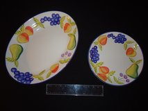 "Heritage Artist's Touch Orchard Jubilee 18"" Serving Platter & 12"" Serving Tray in Fort Benning, Georgia"