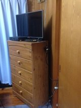 6 DRESSER W/ MIRROR/ 5 DRAWER AND NIGHT STANDS in Okinawa, Japan