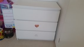 Three drawer MALM dresser in Ramstein, Germany
