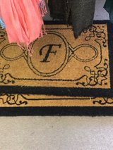 Letter F INITIAL door mats NEW $17 each in Fort Bragg, North Carolina