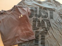Under Armor (lt gray stripe) and Nike tshirts Men's small/Boy's XL in Lockport, Illinois