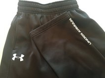 Under Armor track pants, black, men's small/boy's XL in Lockport, Illinois