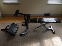 WEIGHT BENCH WITH ATTACHMENTS in Westmont, Illinois