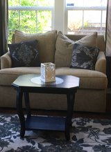 Black Chalk Paint & Distressed Side/Entry/End Table in Naperville, Illinois