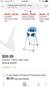 Evenflo High Chair in Fort Irwin, California