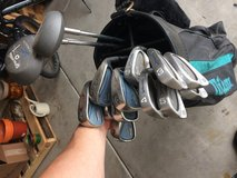 Golf clubs and bag in Morris, Illinois