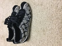 8.5 coach shoes black, gray and white in Camp Lejeune, North Carolina