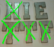 BIG METAL LETTERS FROM HOBBY LOBBY $12 EACH in Fort Benning, Georgia