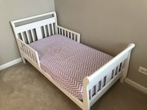 White Toddler Bed in Naperville, Illinois