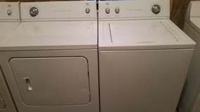 Matching Whirlpool super capacity washer and dryer set in Fort Rucker, Alabama
