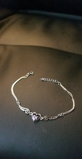 Silver Innocent Hearts Wing bracelet in Bellaire, Texas