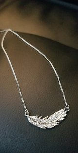 New diamond feather necklace from G by Guess in Bellaire, Texas