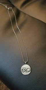 """""""Vintage"""" looking Infinity disk necklace in Bellaire, Texas"""