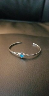 Silver and turquoise Texas bracelet in Bellaire, Texas