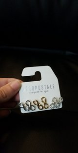 Brand new infinity earrings from Aeropostale in Bellaire, Texas