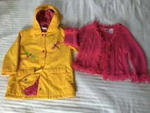 EUC SIZE 2T Girls Raincoat & Sweater in Oswego, Illinois