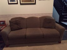 Brown Couch and Love Seat with Covers in Okinawa, Japan