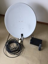 AFN Decoder with satellite dish and 50feet cable in Okinawa, Japan