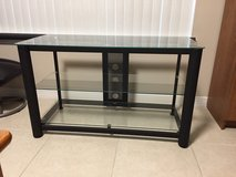 Black metal and glass tv  entertainment stand in Eglin AFB, Florida