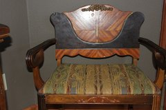 Beautiful Vintage French Louis XVI Style Ornately Carved Armchair in Fort Carson, Colorado