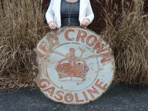 """Genuine RED CROWN GASOLINE Sign 42"""" Metal, S-5733 Reliance Adv Co ADV-250 in Fort Knox, Kentucky"""