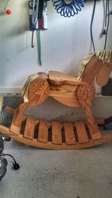 Horse rocker Heavy wood large size in Camp Lejeune, North Carolina