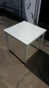 Small Wood white table in Fort Riley, Kansas