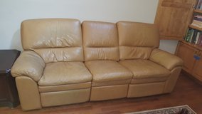 Leather Electric reclining loveseat in Houston, Texas