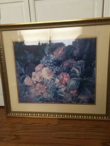 Large floral matted print in Bartlett, Illinois