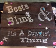 Handcrafted Boots & Bling Sign in Houston, Texas