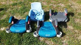 4 BOOSTER SEATS (3 for car, 1 for home) in Fort Benning, Georgia