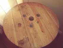 wooden spool/end table/coffee table in The Woodlands, Texas