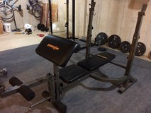 Incline Weight Bench with Attachments in Bolingbrook, Illinois