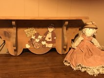 Hand painted shelf with mop doll in Pasadena, Texas