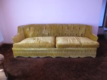 Gold Crushed Velvet Couch in Bolingbrook, Illinois