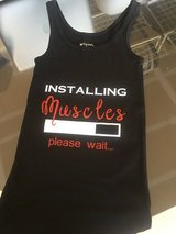 Taking orders on workout tanks in Temecula, California