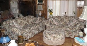Couch Set Tapestry Cream Floral in Naperville, Illinois